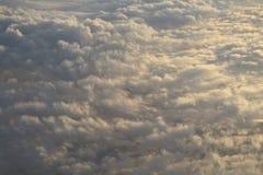 Wolken van hierboven Stock Foto