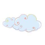 Wolken Vectorillustratie Royalty-vrije Stock Foto