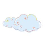 Wolken-Vektor-Illustration Vektor Abbildung