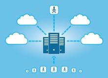 Wolken-Vernetzung Lizenzfreies Stockbild