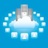 Wolken-Vernetzung Lizenzfreies Stockfoto