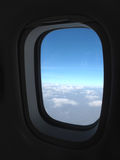 Wolken vom Fenster stockfoto