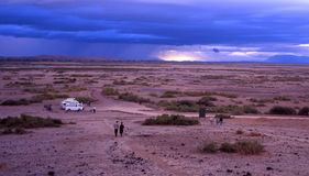 Wolken von Amboseli Stockfotos