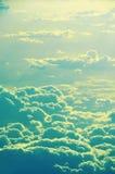 Wolken von der Spitze und vom Ozean, Flugzeugansicht Stockfoto