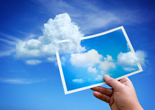 Wolken von einer Abbildung Stockfoto