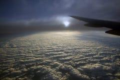Wolken von oben Stockbild