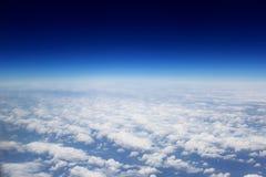 Wolken von oben Stockfotos