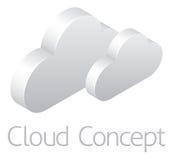 Wolken-Wetter-Ikonen-Konzept lizenzfreie abbildung