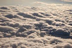 Wolken, wie vom Flugzeug gesehen Stockbild