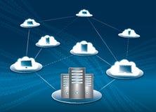 Wolken-Zusammenhang Stockfoto