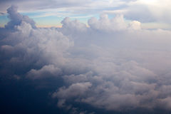Wolkenansicht Lizenzfreie Stockfotos