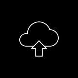 Wolkenantriebskraftlinie Ikone Lizenzfreies Stockfoto