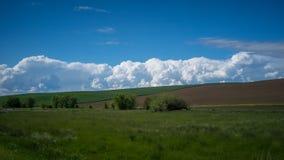 Wolkenbildung im Palouse stockbilder