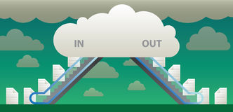 Wolkendateien Stockbilder