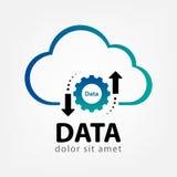 Wolkendaten-Logoschablone kreativ Stockfotografie