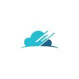 Wolkendaten-Technologielogo Lizenzfreies Stockbild