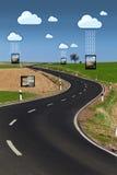 Wolkendatenaustausch lizenzfreie stockfotos
