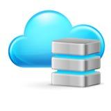 Wolkendatenverarbeitung lizenzfreie abbildung