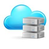 Wolkendatenverarbeitung vektor abbildung