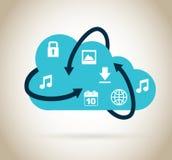 Wolkendatenverarbeitung Stockfoto