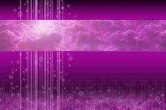 Wolkendatenverarbeitung - purpurrote futuristische Auslegung Stockfotografie