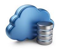 Wolkendatenverarbeitung und -datenbank. Ikone 3D getrennt Lizenzfreie Stockfotografie