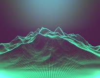 Wolkendatenverarbeitung und Technologiedesign Wiedergabe 3d Stockfoto