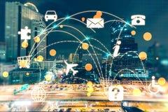Wolkendatenverarbeitung und Vernetzungshintergrund Lizenzfreie Stockfotos