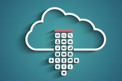 Wolkendownload Stock Afbeeldingen