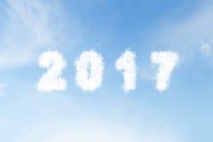 Wolkenform Nr. 2017 auf blauem Himmel Lizenzfreie Stockfotos