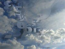 Wolkenhintergrundillustration der gelegentlichen Zahlen erzeugte Lizenzfreie Stockfotos