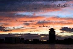 Wolkenhorizon Amsterdam Royalty-vrije Stock Afbeeldingen