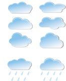 Wolkenikonen Stockfotografie