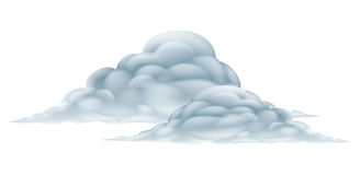 Wolkenillustratie Royalty-vrije Stock Fotografie