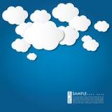 Wolkenillustration - Vektorhintergrund Stockfoto