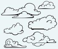 Wolkeninzameling royalty-vrije illustratie