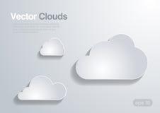 Wolkeninzameling. Vectorachtergrond. royalty-vrije illustratie