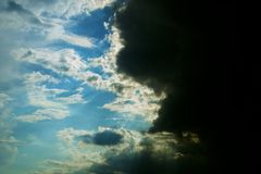 Wolkenkampf Lizenzfreies Stockfoto