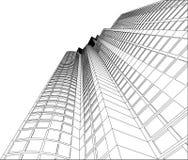 Wolkenkrabber - 4 stock illustratie