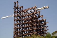 Wolkenkrabber in aanbouw royalty-vrije stock foto's