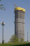 Wolkenkrabber in aanbouw Stock Foto