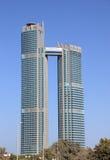 Wolkenkrabber in Abu Dhabi Stock Foto