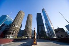 Wolkenkrabber in Chicago Royalty-vrije Stock Foto's