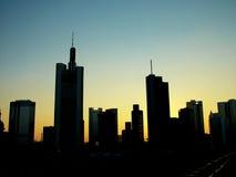 Wolkenkrabber de stad in royalty-vrije stock afbeelding