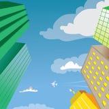 Wolkenkrabber de Vector van het de Bouwperspectief Royalty-vrije Stock Fotografie