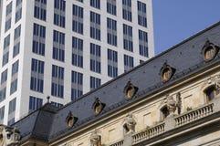 Wolkenkrabber in Frankfurt Royalty-vrije Stock Foto's