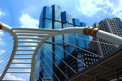 Wolkenkrabber het Vierkant van Sathorn Skywalk Royalty-vrije Stock Foto