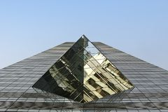 Wolkenkrabber in Hongkong Stock Afbeelding