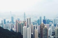 Wolkenkrabber in Hongkong Royalty-vrije Stock Foto's
