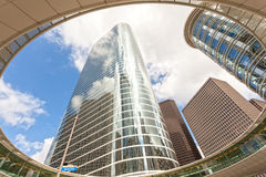 Wolkenkrabber in Houston de stad in, Texas Royalty-vrije Stock Foto's